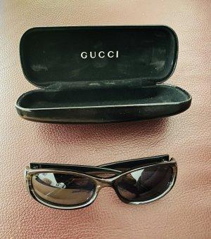 Gucci Oval Sunglasses green grey
