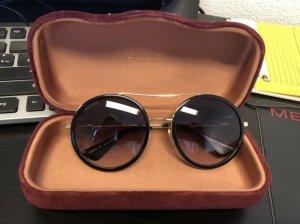 Gucci Sonnenbrille rund Doppelsteg