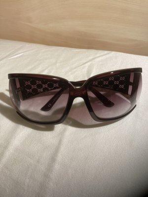 Gucci Kwadratowe okulary przeciwsłoneczne brązowo-czerwony