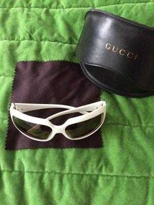 Gucci Angular Shaped Sunglasses white
