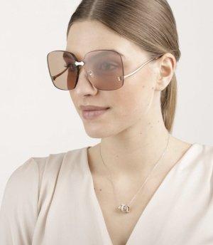 Gucci Gafas color oro-crema