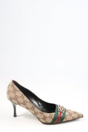 Gucci Czółenka ze spiczastym noskiem Wielokolorowy Elegancki