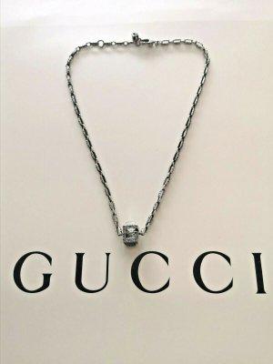 Gucci Srebrny łańcuch srebrny-czarny