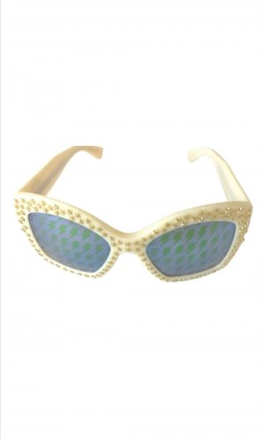 Gucci Butterfly Glasses natural white-gold-colored