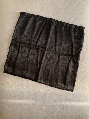 Gucci Borsa di tela marrone scuro
