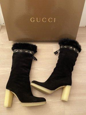 Gucci Winterlaarzen zwart Leer