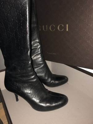 Gucci Heel Boots multicolored leather