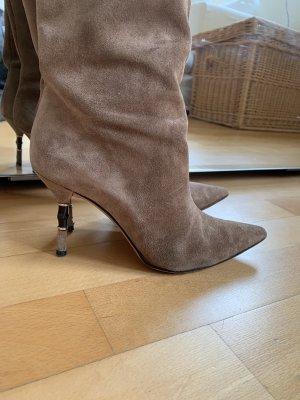 Gucci Botas de tacón alto marrón-marrón grisáceo