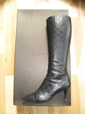 Gucci Stiefel Guccissima 37 Leder Schuhe