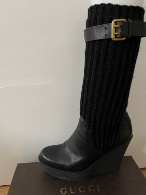 Gucci Plateauzool Laarzen zwart