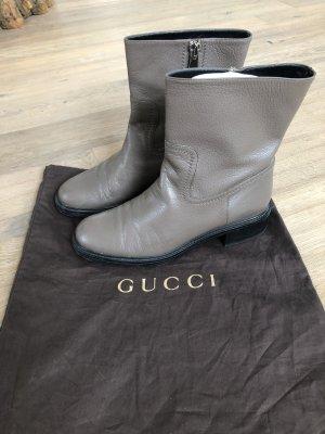 Gucci Bottines à fermeture éclair gris cuir