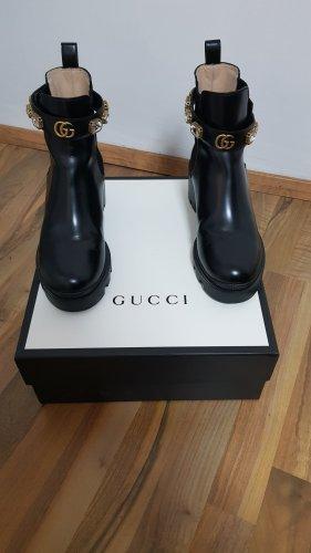 Gucci Buty zimowe czarny Skóra