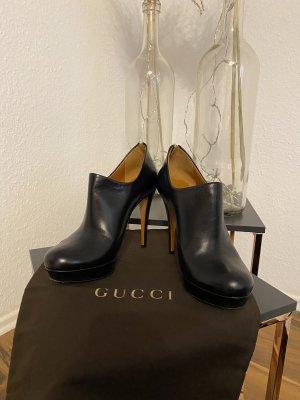 Gucci Plateauzool laarsjes zwart-bruin Leer