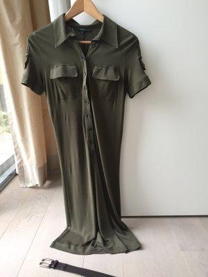 Gucci Sukienka ze stretchu ciemnozielony Tkanina z mieszanych włókien