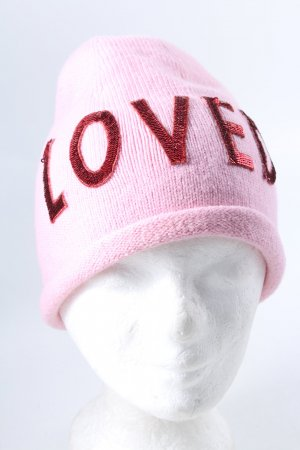 Gucci Cappello a maglia rosa-rosso stile casual
