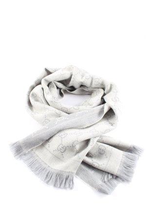 Gucci Gebreide sjaal lichtgrijs-wolwit volledige print zakelijke stijl