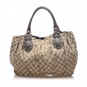 Gucci Studded GG Canvas Pelham Shoulder Bag