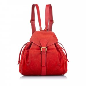 Gucci Backpack red suede
