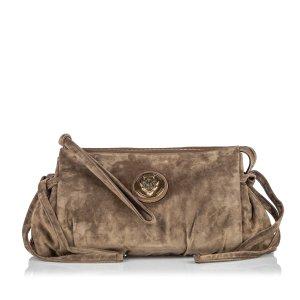 Gucci Suede Hysteria Clutch Bag