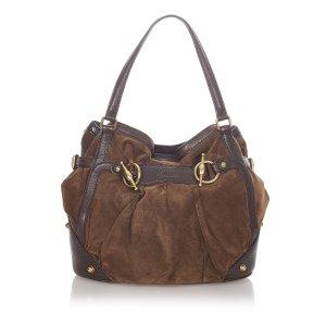Gucci Suede Jockey Shoulder Bag