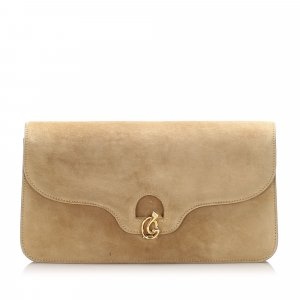Gucci Suede Leather Clutch Bag