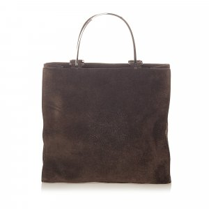 Gucci Tote donkerbruin Suede