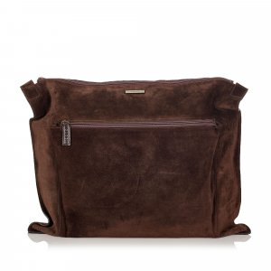 Gucci Bolso de viaje marrón oscuro Gamuza