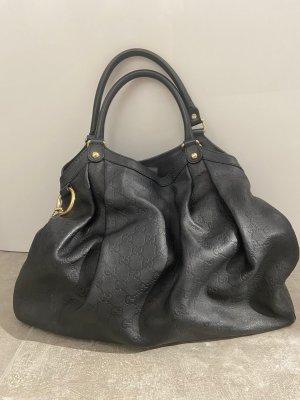 Gucci Sukey (Guccissima) Bag in Leder schwarz