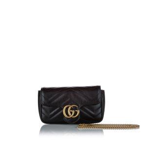 Gucci Super Mini GG Marmont Leather Crossbody Bag