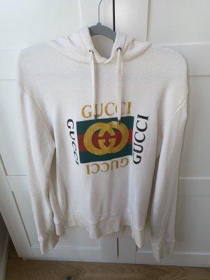 Gucci Sweatshirt weiß mit Kapuze