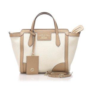 Gucci Swing Canvas Tote Bag