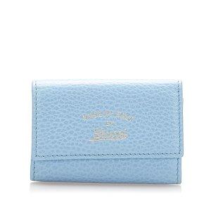 Gucci Etui na klucze niebieski Skóra
