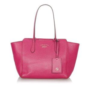 Gucci Borsa larga rosa Pelle
