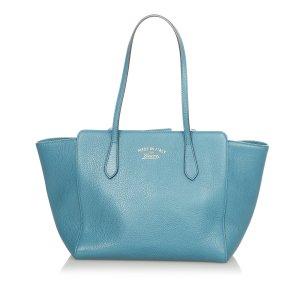 Gucci Torebka typu tote niebieski Skóra