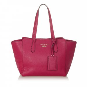 Gucci Swing Leather Tote Bag
