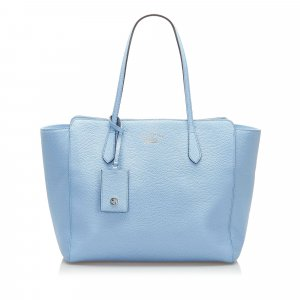 Gucci Tote light blue leather