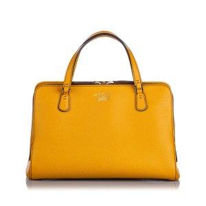 Gucci Sacoche jaune cuir