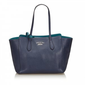 Gucci Tote blue leather