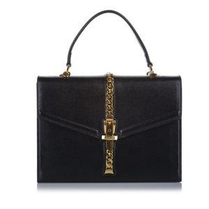 Gucci Sylvie 1969 Leather Satchel