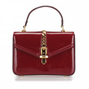 Gucci Sylvie 1969 Patent Leather Satchel