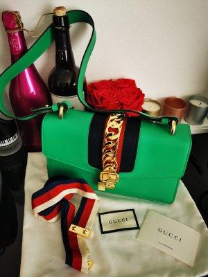 Gucci Sylvie grün Handtasche