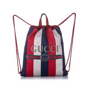 Gucci Mochila rojo Cuero