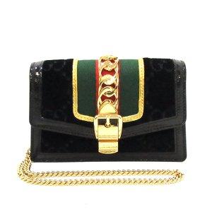 Gucci Sylvie Velvet Crossbody Bag