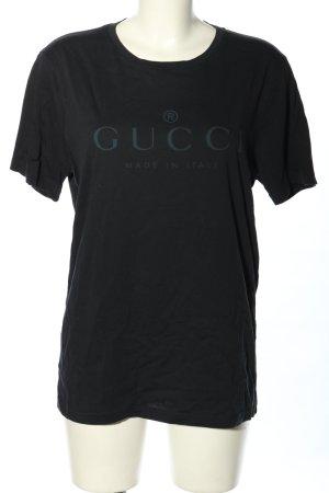 Gucci T-shirt noir lettrage imprimé style décontracté