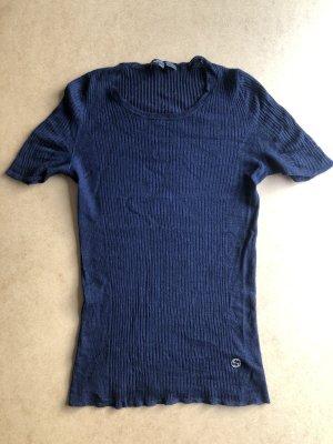 Gucci Top en maille crochet bleu foncé cachemire