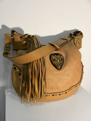 GUCCI Tasche Babouska Heart Hobo Bag in Beige Leder Gucci