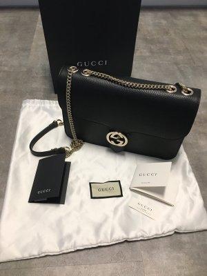 Gucci Borsa a spalla nero-oro