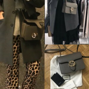 Gucci Tasche Interlocking in grau
