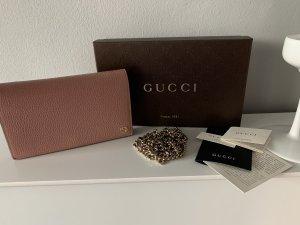 Gucci Sac à main or rose-vieux rose cuir
