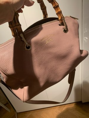 Gucci Bolso barrel rosa empolvado-beige Cuero